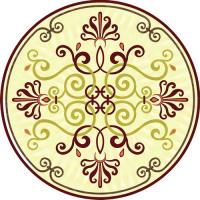 Rosette for parquet   R-075 (Elite Ukraine parquet)