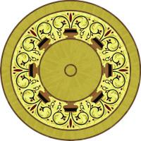 Rosette for parquet   R-097 (Elite Ukraine parquet)