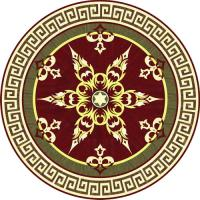 Rosette for parquet   R-134 (Elite Ukraine parquet)